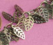 3m of Antique Brass filigree leaf chain 5x9mm