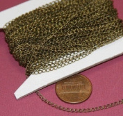 9.8m spool of DYI Bulk Antique Brass curb Chain 1.8X2.8mm - Soldered Links