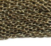 14m of Antique Brass finished texture cable chain 3X5mm- unsoldered