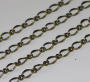 1.5m of Antique Brass high quality hammered - soldered chain