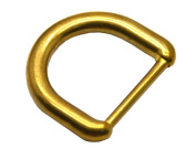 """Okones 6Pcs,4/5""""(20mm) Inner Width,Solid Brass D Ring for Straps Bags Purses Belting Leathercarft"""
