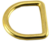 """Okones 6Pcs,1-1/8"""" (27mm) Inner Width,Solid Brass D Ring for Straps Bags Purses Belting Leathercarft"""