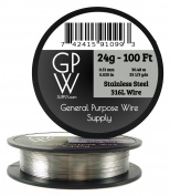 GPW Supply - Stainless Steel 316L 24g 30m Craft Wire