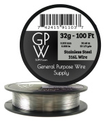 GPW Supply - Stainless Steel 316L 32g 30m Craft Wire