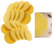 New 20 x Cellulose Facial Sponges Natural Facial Cleansing Sponge