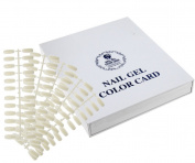 Display Book White 120 Nail Tip Colour Chart With Tips For UV/LED Gel Polish