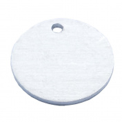 GazeKu blank stamping tags, W/Hole, Aluminium .160cm (14 Ga.)