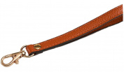 Goldtone Buckle Cowhide Genuine Leather Wrist Straps Replacement for Clutch/Wristlet/Purse/Pouch