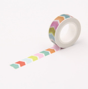 Nice Colourful Arrow Decorative Tapes Washi Paper Masking Tape DIY Labelling Stickers Scrapbooking
