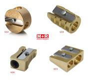 COMPLETE SET 4 Styles of Mobius + Ruppert (M+R) Brass Pencil Sharpeners - Finest in the world - MADE IN GERMANY