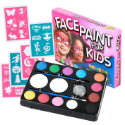 Face Paint Kit for Kids (47 Pieces) 12 Colour Palette