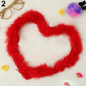 Gilroy 2m Marabou Feather Boa For Costume Dress Party Wedding Decoration Xmas Gift - Red