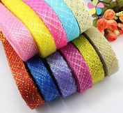 20mm Net Belt Flower Material Lace Ribbon Approx 25 metres/roll 11rolls/lot 1roll/colour