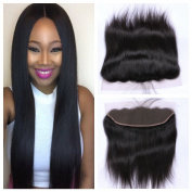 Derun Hair Best Quality 100% Virgin hair Remy Silky Straight 20cm ear to ear 13x 4 full Lace Frontal Closure