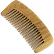 Evolatree - Wooden Comb, Wide Tooth, Lignum Vitae, Pocket Size 11cm