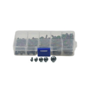 One Box Size 6 8 9 10 12mm Plastic Safety Eyes with Washers for Child Toy Bear Doll Animal DIY Craft