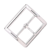 Centre Bar Buckle Square 2.5cm - 1.9cm Nickel Plate 1586-02