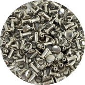 Springfield Leather Company's Nickel Plate Small Double Cap Rivets 1000pk
