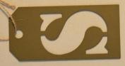 Stencil Cut Initial Metal Tag - S