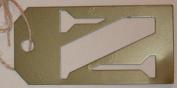 Stencil Cut Initial Metal Tag - N