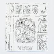 Watercolour paintable cards, tags and frame-able art. Includes over 72 original designs. Perfect for Adult Colouring parties, craft socials and everyday creativity.