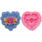 Mr.S Shop 3D 1PCS Rose Heart-shaped Silicone Mould Resin Clay Chocolate Candy Fondant Mould Cake Decorating Tools,Small Size