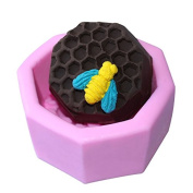 Mr.S Shop 3D Honeycomb Silicone Fondant Mould Handmade Soap Mode Sugar Art Tools ,Small Size