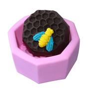 Mr.S Shop 3D Honeycomb Silicone Fondant Mould Handmade Soap Mode Sugar Art Tools ,Small Size