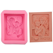 Mr.S Shop 3D Mother Holding Here Baby Love Mom Craft Art Silicone Mould Soap Craft Moulds DIY,Small Size