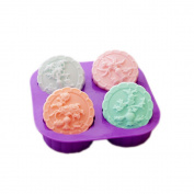 StarSide 4-Cavity Four Seasons Tree Soap Round Silicone Mould Candle Making for Homemade Fondant Mould Cake Decorating