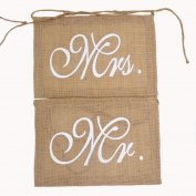 Mr and Mrs Photo Props, Chair Signs Banner , Wedding Decorations, Bride and Groom Signs, Photo Booth Signs