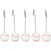 10 Pieces, Clickstore Solid Resin Baseball Wire Recipe, Desk, Card, Note, Memo, Photo Clip, Holder Or Paper Weight, Sport Sereis