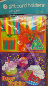 2 Gift Card Holders 11cm x 8.3cm Birthday & Party Time