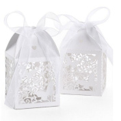 Pixnor 50pcs Wedding Sweets Candy Boxes Gift Favour Boxes - Butterfly