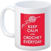Crochet Happy Keep Calm Mug 330ml-Crochet