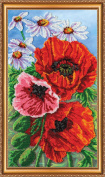 """Beaded DIY Embroidery Kit """"Wild poppies"""""""