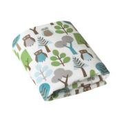 Dwell Studio Owls Fitted Crib Sheet -Unisex -Blues & Greens - NEW!
