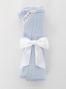 Baby Laundry Cotton Swaddler, Swaddling Blanket for Boys Girls - Blue