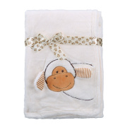 Comfort Baby 3D Animal Coral Fleece Blanket, Plush Sheet w/ Assorted Styles, 100cm by 80cm
