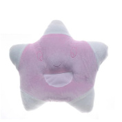 Pink Lovely five-pointed star Design Baby Positioner Pillow for sleep , Prevent Flat Head With Natural Organic Soft Cotton Protective Sleeping Pillow for Newborn Gifts