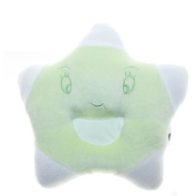Eonkoo Green Lovely five-pointed star Design Baby Positioner Pillow for sleep , Prevent Flat Head With Natural Organic Soft Cotton Protective Sleeping Pillow for Newborn Gifts