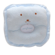 Blue Cute design Baby sleeping Pillow for Positioner , Prevent Soft Flat Head With Super Comfortable and Cotton & Velvet toddler Protective Sleep Pillow for 3-12 months kids