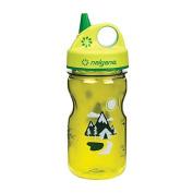 Nalgene Grip 'n Gulp Kids Water Bottle - BPA Free - 350ml - Green w/Trail