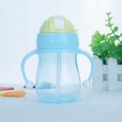 Baby Cup Children Drinking Straw Milk Feeding Nipple Bottle Infant 280ML