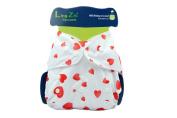 LINGZHI Adjustable Baby Cloth Nappy Pocket Oversize Fits 3-15kg,Heart
