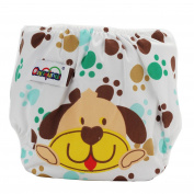 Lovely Puppy Design Washable Reusable Baby Cloth Nappy Nappy Cover Fits Baby 0-36 Month