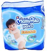 MamyPoko Pants Extra Dry Soft Roll Up L Boys Baby Nappies Pants Boy 14 pcs