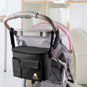Multi-function Baby Nappy Nappy Changing Bag CHIC Black Mummy Shoulder Bag