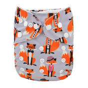 1 New Fox Baby Cloth Nappy Reusable Washable Adjustable Pocket Nappy Cover