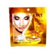 4 Packs New Facy 4 Elements Gold Pearl Silk Collagen White Bright Gold Tissue Mask Product of Thailand